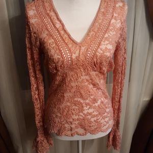 Vintage Victoria's Secret Pink Lace Blouse